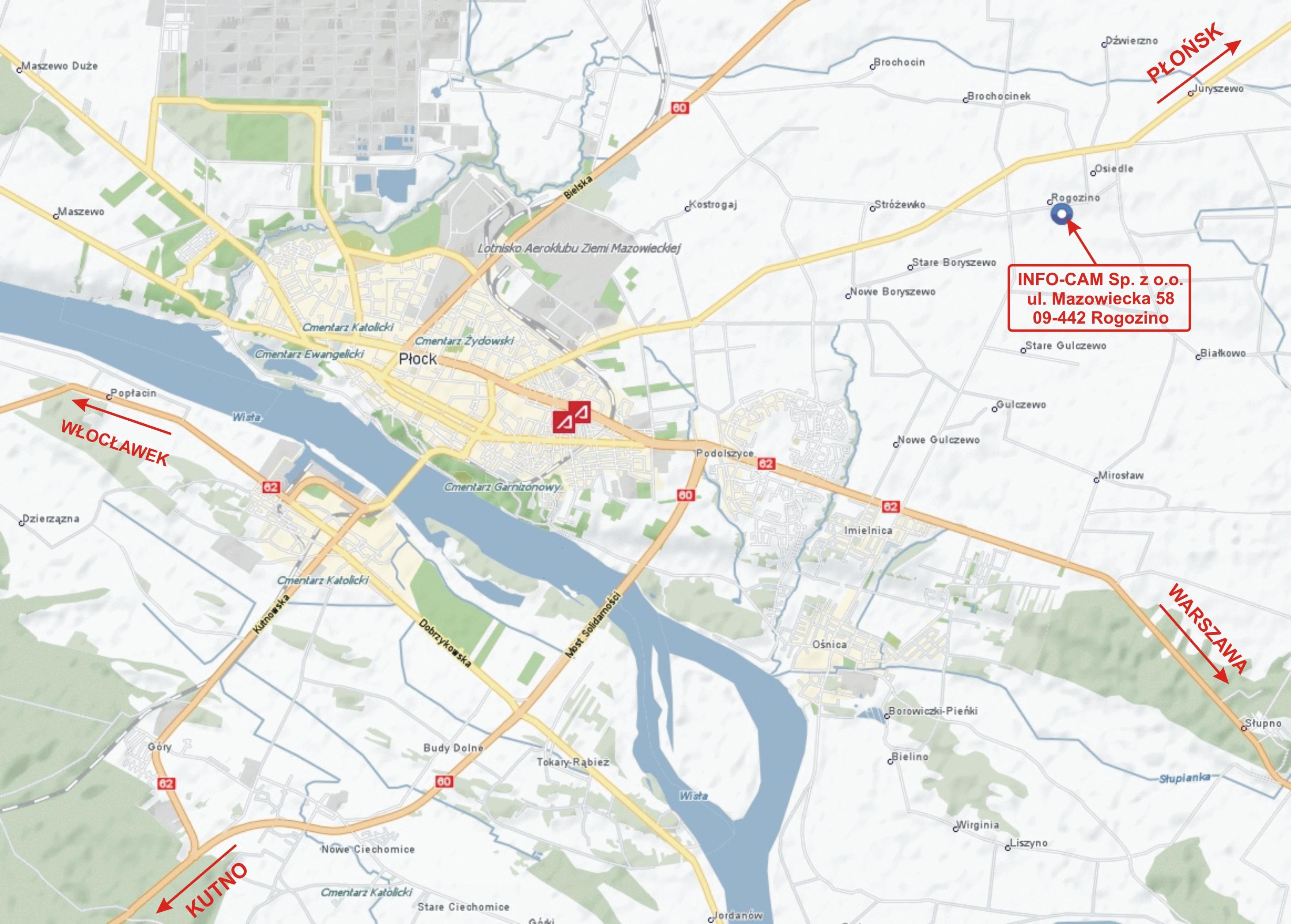 Info Cam Plock Kontakt Mapa Dojazdu